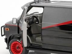 B.A.'s GMC Vandura année de construction 1983 Série TV The A-Team (1983-87) noir / rouge / gris 1:24 Greenlight