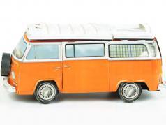 Volkswagen VW Bulli T2 camper cartone modello arancione / bianco con compagno guidare 1:18 Franzis