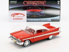 Plymouth Fury anno di costruzione 1958 film Christine (1983) rosso / bianco / argento 1:24 Greenlight