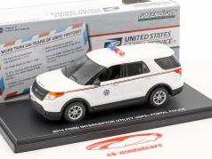 Ford Crown Victoria Police Interceptor USPS anno di costruzione 2010 bianco 1:43 Greenlight