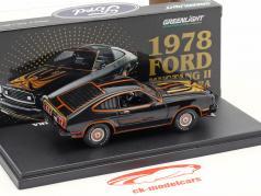 Ford Mustang II King Cobra anno di costruzione 1978 nero / oro 1:43 Greenlight