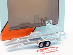 tandem trailer Gulf Oil con pneumatico cremagliera azzurro / arancione 1:43 GMP