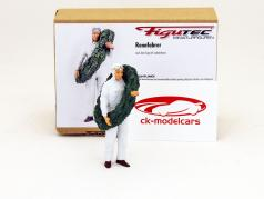 race car driver figure with laurel wreath 1:18 Figutec Figures