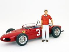 Graf Berghe von Trips Ferrari Dino 156 F1 1961 conducteur figure 1:18 Figutec figures