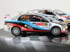 Mitsubishi Lancer Evo IX / X 2 Car-Set Rally Winner 2009 / 2010 1:43 Vitesse
