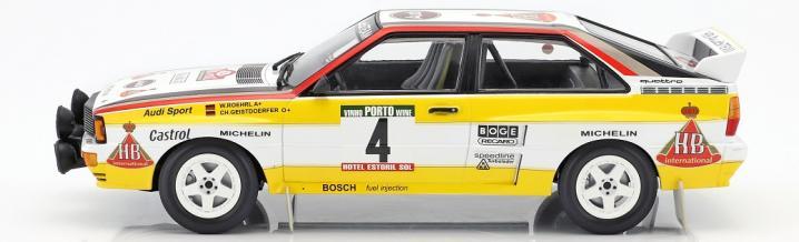 Der Audi quattro der Rallye Portugal 1984 in 1:18