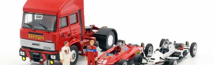 Big boy: Ferrari racing transporter from Brumm