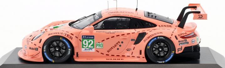 Aktueller geht es nicht: Porsche 911 RSR aus Le Mans 2018