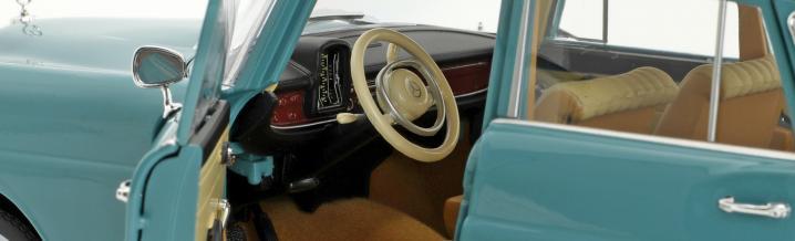 Große Klasse, kleine Flosse: Mercedes-Benz 200 aus 1966 von Norev