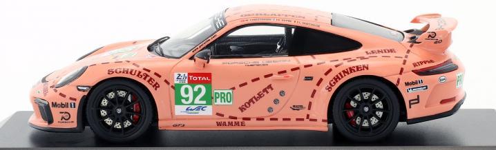 Das Pink Pig zivil: Sondermodell des Porsche 911 GT3 von Spark