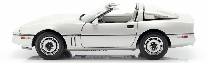 1984 - The modelcars to the Chevrolet Corvette C4 in 1:18