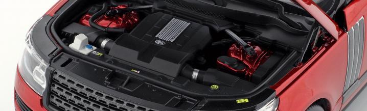 LCD models zeigt den Range Rover Autobiography Dynamic