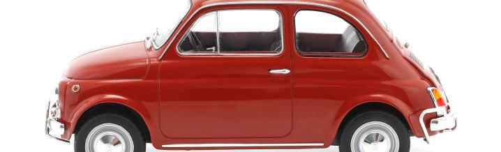 Mit Rolldach in die Sonnenwoche: Fiat 500 L von Norev
