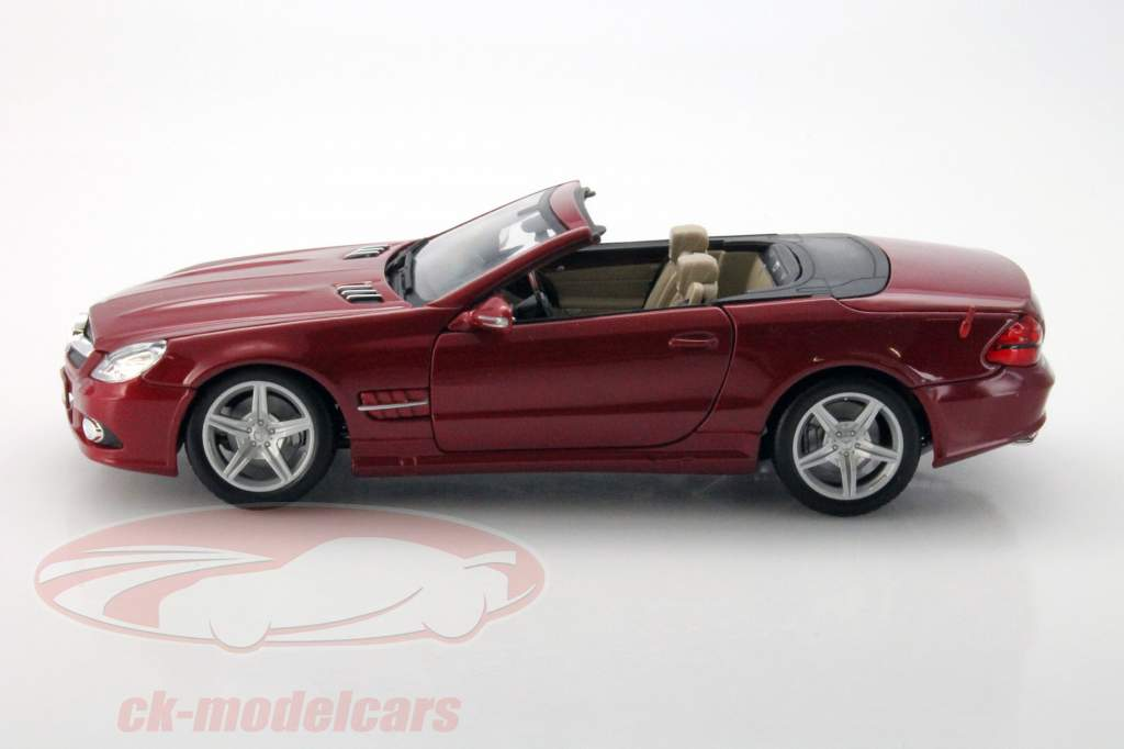 Ck modelcars 31169r mercedes benz sl550 year 2010 red 1 for 2010 mercedes benz sl550