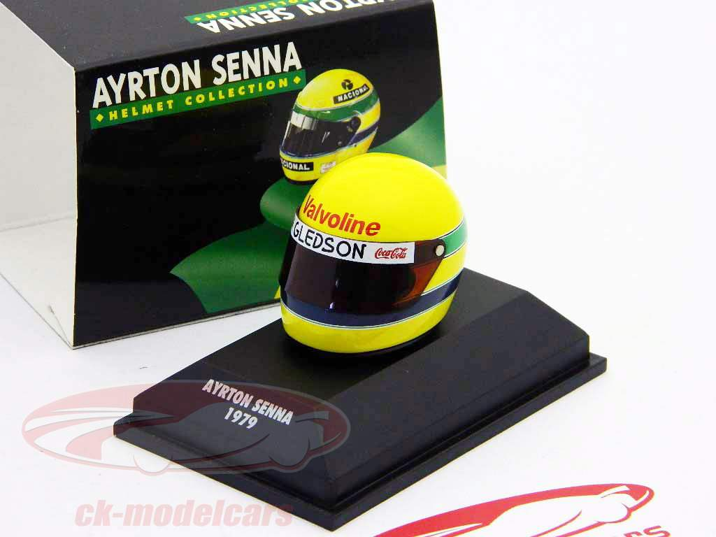 ck modelcars 540381913 ayrton senna kart helm 1979. Black Bedroom Furniture Sets. Home Design Ideas