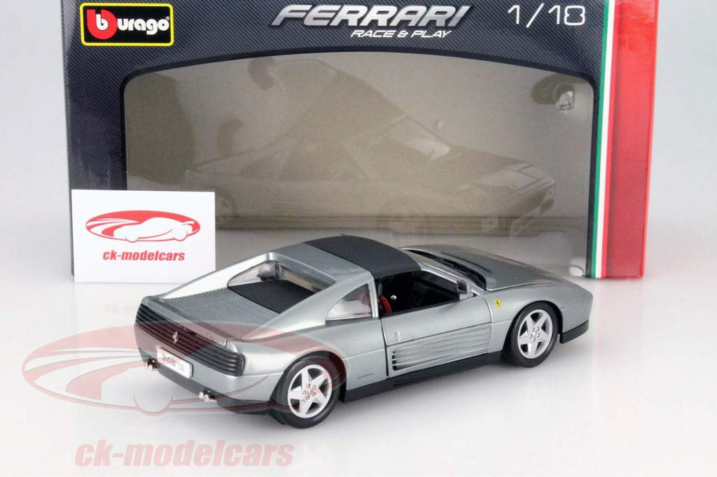 Ferrari 348ts silver 1:18 Bburago