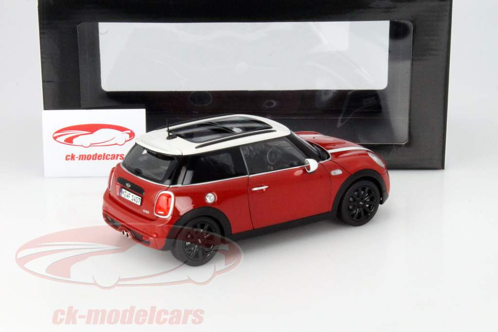 ck modelcars 80432413799 mini cooper s f56 rot 1 18. Black Bedroom Furniture Sets. Home Design Ideas