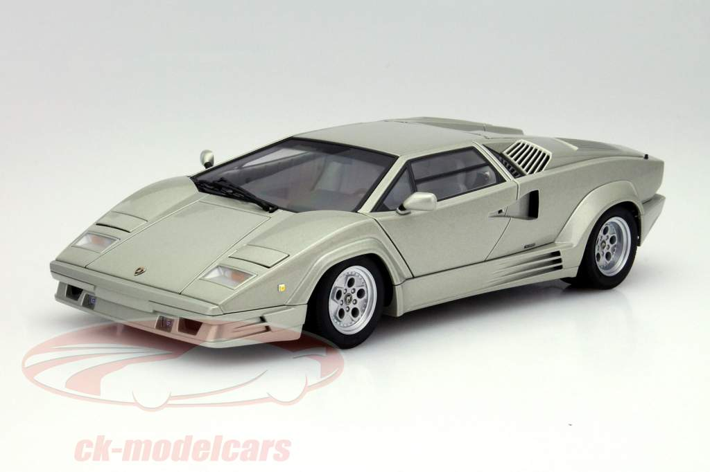 ck modelcars 74536 lamborghini countach 25th anniversary edition 1990 silver metallic 1 18. Black Bedroom Furniture Sets. Home Design Ideas