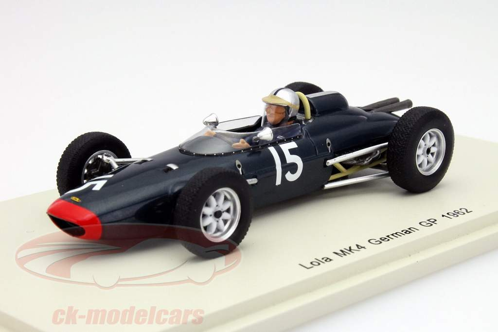ck modelcars s4268 roy salvadori lola mk4 15 allemagne gp formule 1 1962 1 43 spark ean. Black Bedroom Furniture Sets. Home Design Ideas