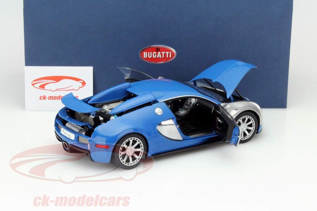 ck modelcars 70956 bugatti veyron eb 16 4 baujahr 2009 blau chrom 1 18 autoart ean. Black Bedroom Furniture Sets. Home Design Ideas
