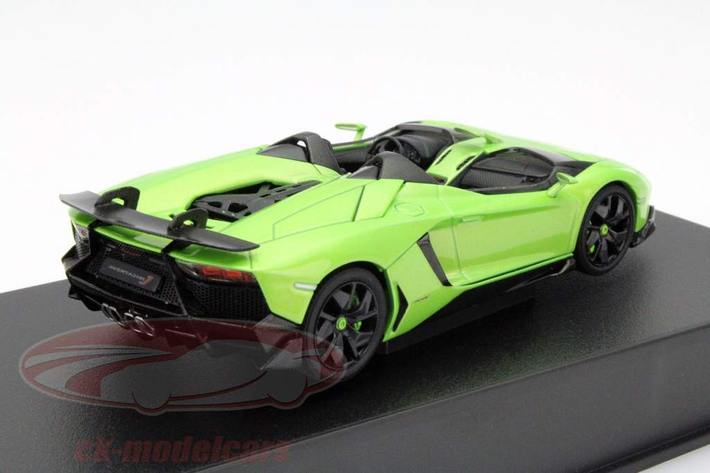 ck modelcars 54654 lamborghini aventador j roadster ann e 2012 vert noir 1 43 autoart ean. Black Bedroom Furniture Sets. Home Design Ideas