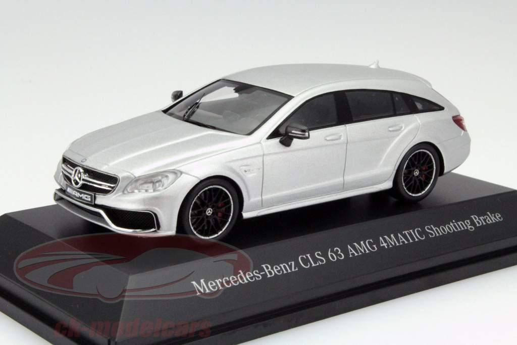 ... Mercedes Benz CLS 63 AMG 4Matic Shooting Brake Irídio Prata 1:43 Spark  MB ...