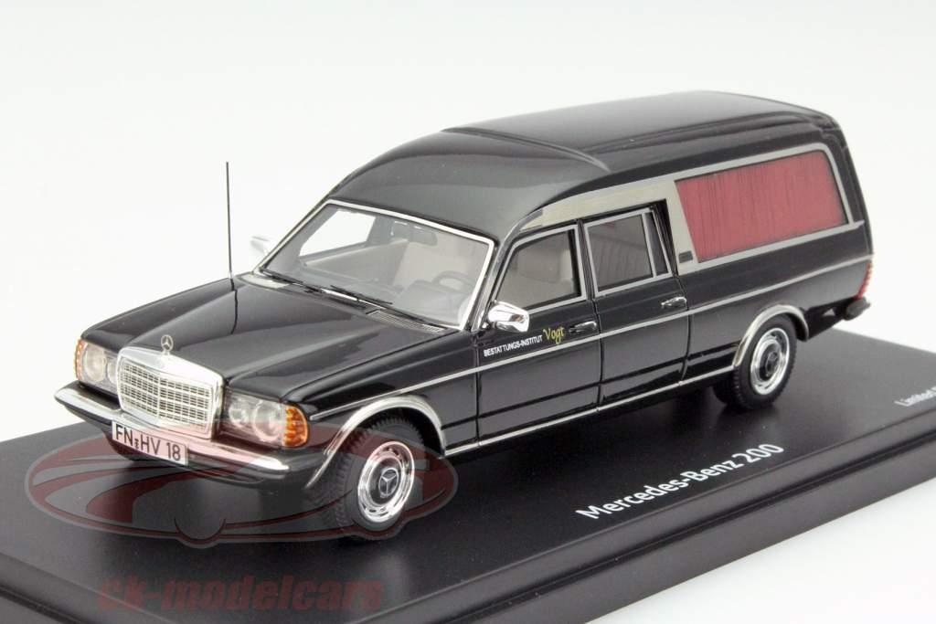 Ck modelcars 450890700 mercedes benz 200 hearse black 1 for Mercedes benz hearse