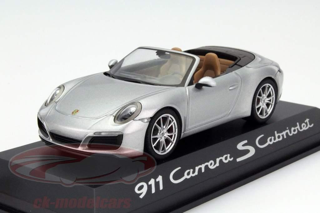 Porsche 911 Carrera S Coupe Baujahr 2016 silber metallic 1:43 Herpa 991 II
