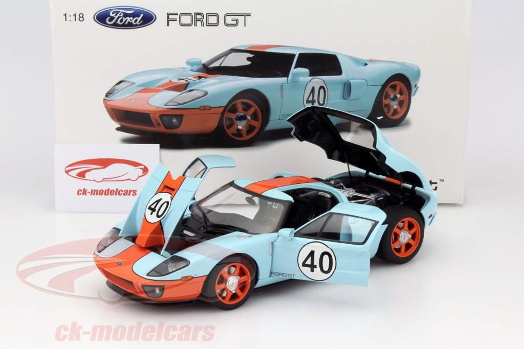 Ford Gt  Gulf Livery Year   Autoart