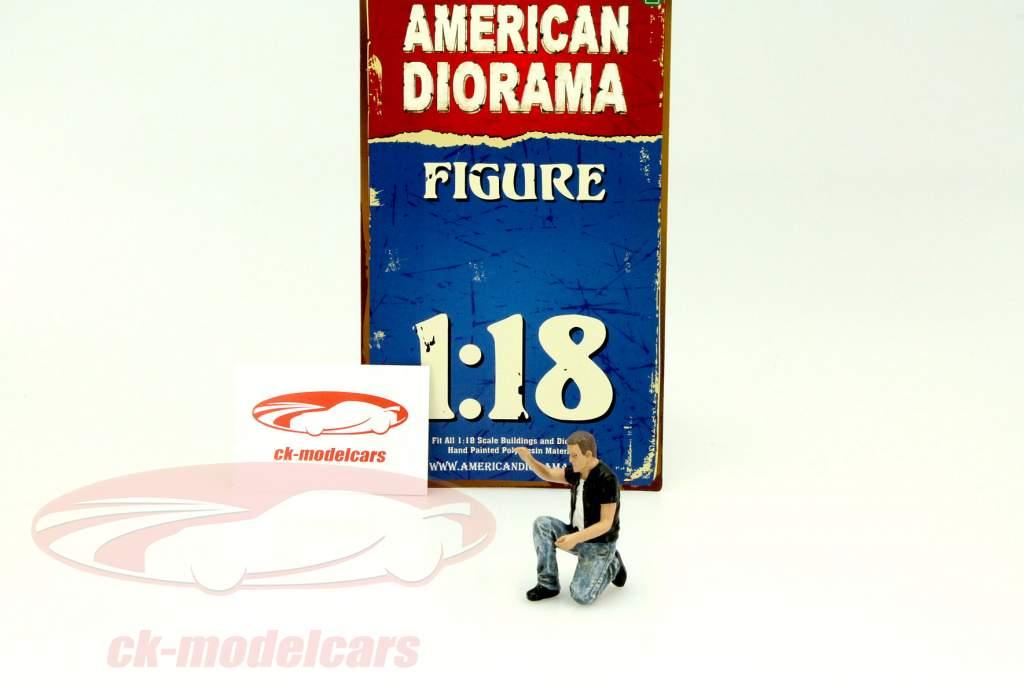 biker figur motorman 1 18 american diorama ebay. Black Bedroom Furniture Sets. Home Design Ideas