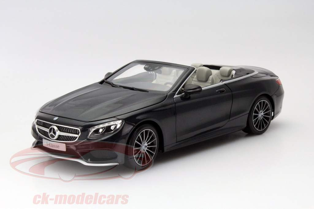 ck modelcars b66960354 mercedes benz s class cabriolet a217 year 2015 black metallic 1 18 norev. Black Bedroom Furniture Sets. Home Design Ideas