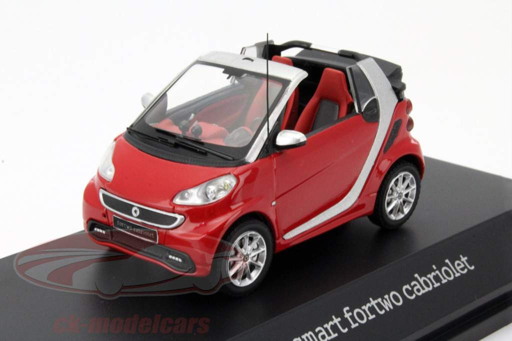 ck modelcars b66960171 smart fortwo cabriolet red silver black 1 43 spark. Black Bedroom Furniture Sets. Home Design Ideas