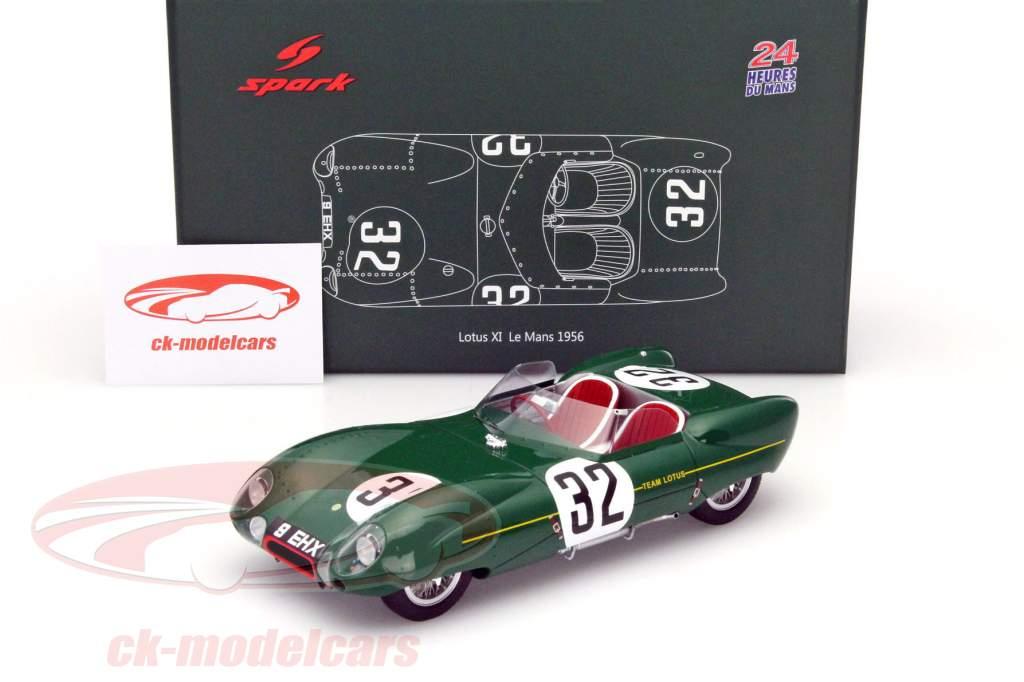 Ck modelcars 18s131 lotus 11 32 24h lemans 1956 chapman mackay fraser 1 18 spark ean - Herbergt s werelds spiegelt ...