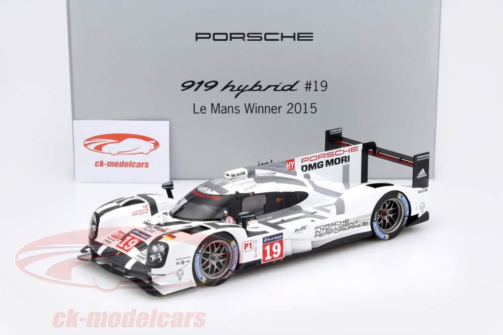 Porsche 919 Hybrid #19 Winner 24h LeMans 2015 Hülkenberg, Tandy, Bamber 1:18 Spark