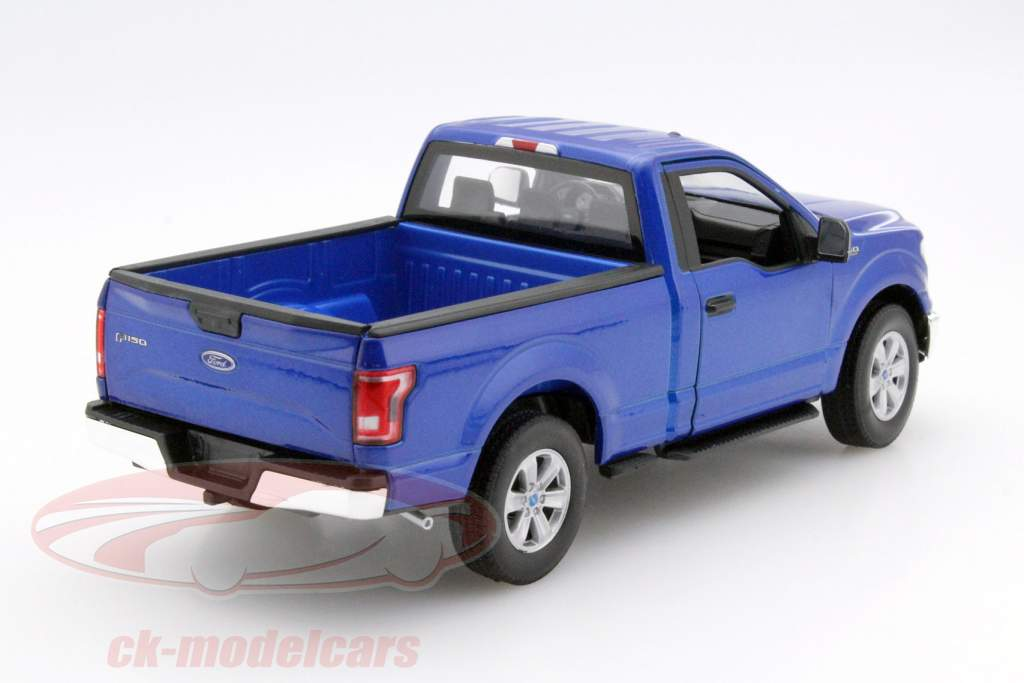 ck modelcars 24063 ford f 150 regular cab year 2015 blue 1 24 welly ean 4891761240639. Black Bedroom Furniture Sets. Home Design Ideas