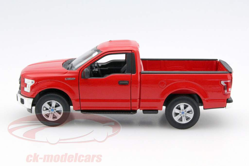 ck modelcars 24063 ford f 150 regular cab year 2015 red 1 24 welly ean 4891761240639. Black Bedroom Furniture Sets. Home Design Ideas