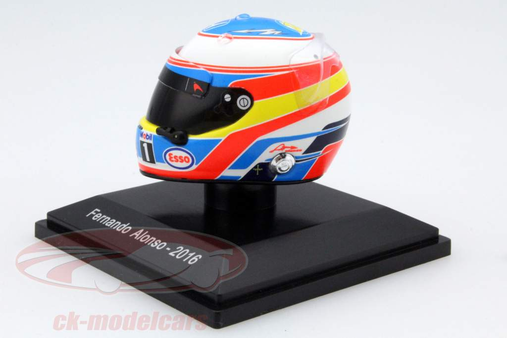 ck modelcars tm1125 fernando alonso mclaren honda formule 1 2016 casque 1 8 spark ean. Black Bedroom Furniture Sets. Home Design Ideas