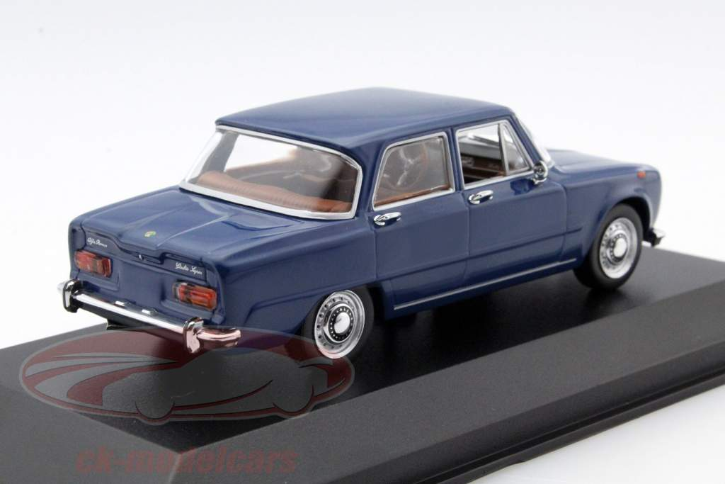 ck modelcars 400120908 alfa romeo giulia 1600 year 1970 blue 1 43 minichamps ean 4012138133778. Black Bedroom Furniture Sets. Home Design Ideas