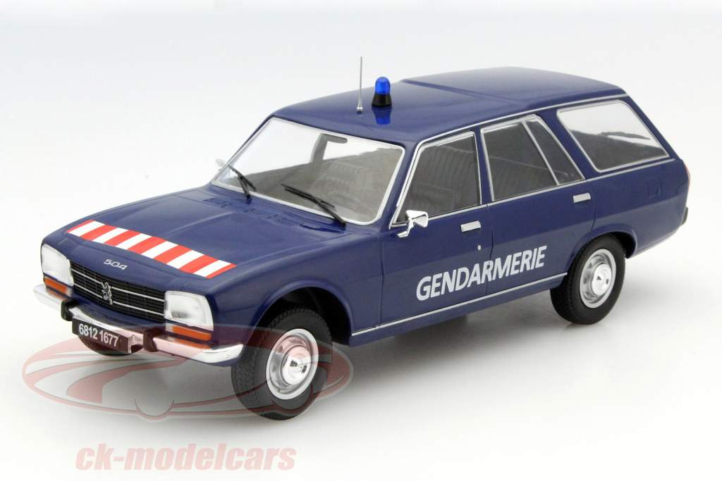 ck modelcars mcg18036 peugeot 504 break gendarmerie bleu 1 18 model car group ean 209951. Black Bedroom Furniture Sets. Home Design Ideas