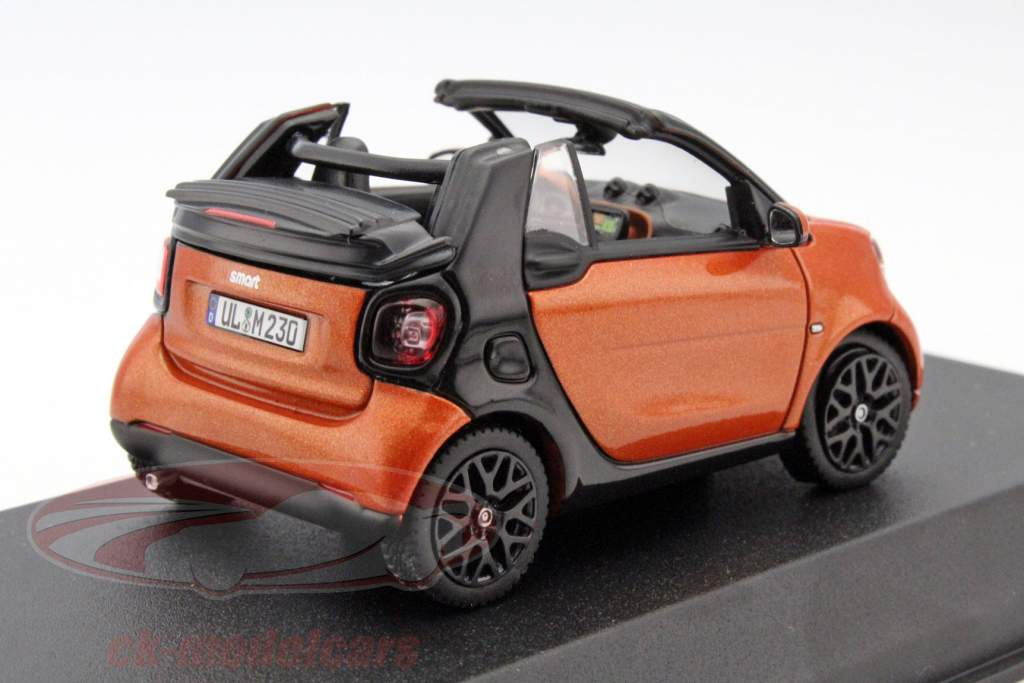 ck modelcars 351422 smart fortwo cabriolet year 2015 orange black 1 43 norev ean 3551093514228. Black Bedroom Furniture Sets. Home Design Ideas