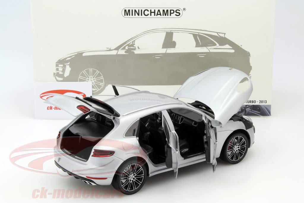 Porsche Macan Year 2013 silver 1:18 Minichamps