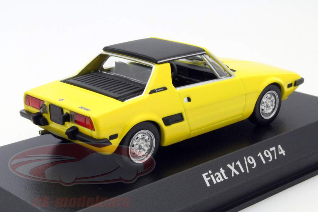 ck modelcars 940121660 fiat x1 9 year 1974 yellow 1 43. Black Bedroom Furniture Sets. Home Design Ideas