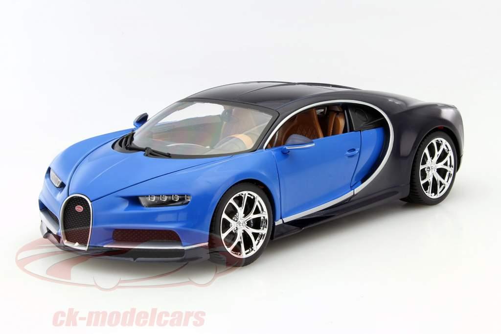 ck-modelcars - 18-11040: bugatti chiron year 2016 blue / dark blue