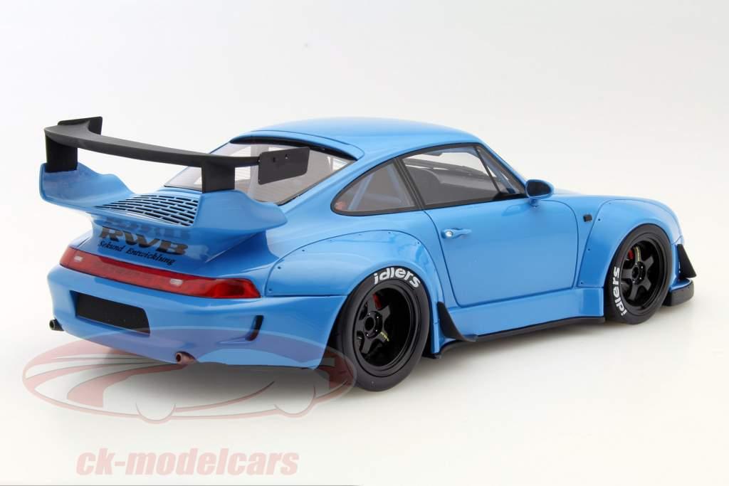 ck modelcars zm087 porsche 911 993 rwb blue 1 18 gt. Black Bedroom Furniture Sets. Home Design Ideas