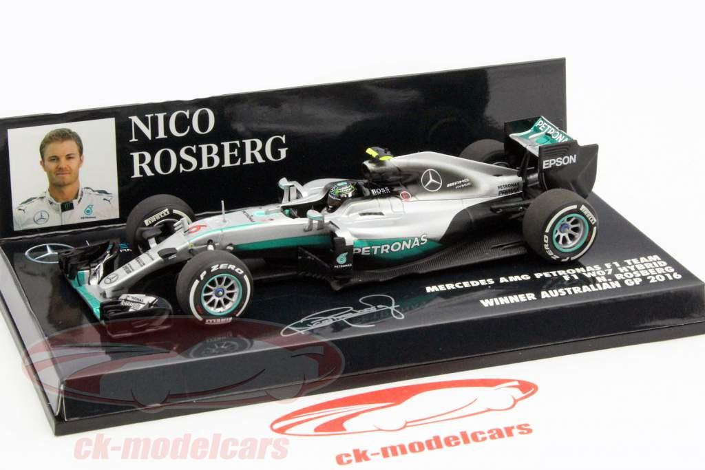 Nico Rosberg Mercedes AMG F1 W07 #6 formula 1 World Champion 2016 1:43 Minichamps