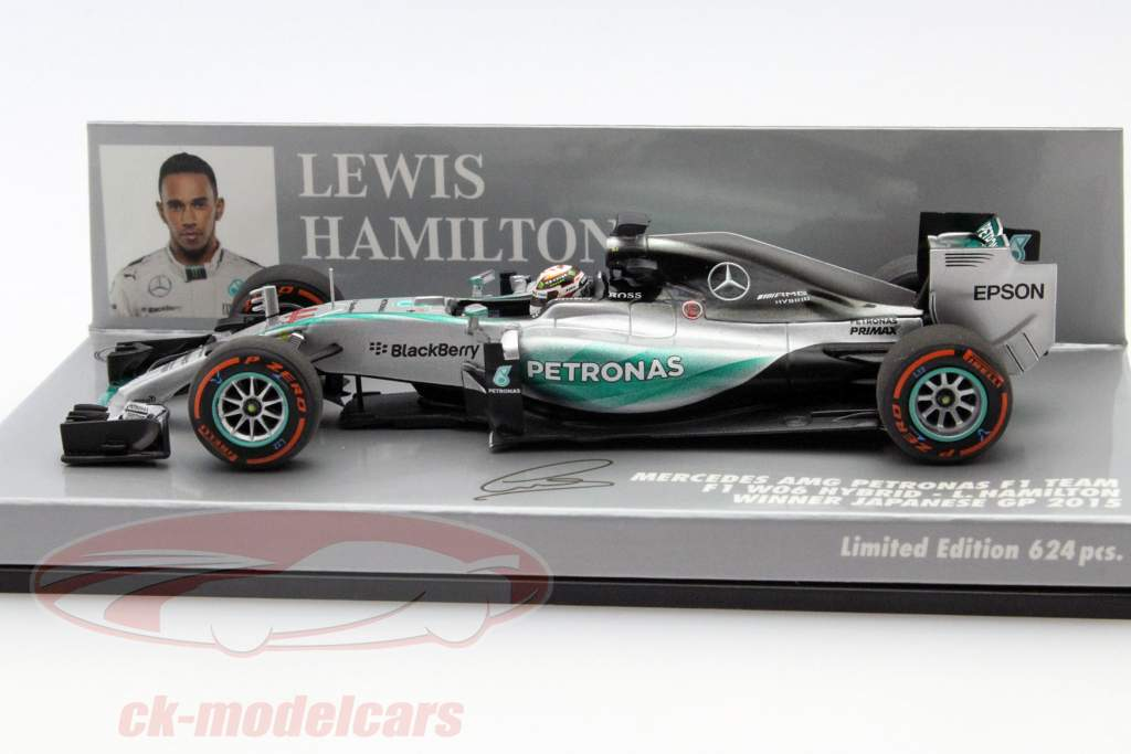 ck modelcars 410150344 l hamilton mercedes f1 w06 44 weltmeister japanese gp formel 1 2015. Black Bedroom Furniture Sets. Home Design Ideas
