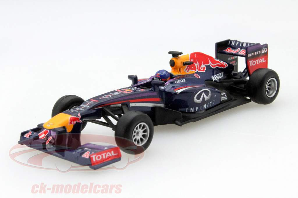ck modelcars y052 sebastian vettel red bull rb9 1 weltmeister formel 1 2013 1 64 spark ean. Black Bedroom Furniture Sets. Home Design Ideas