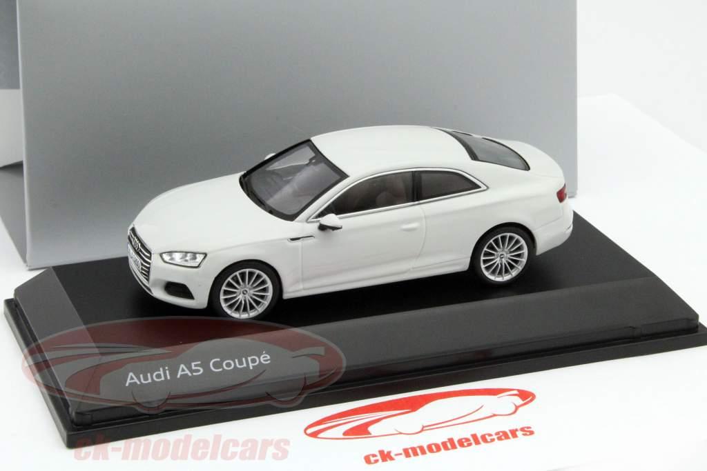 CKModelcars Audi A Coupe Glacier White Spark - White audi a5