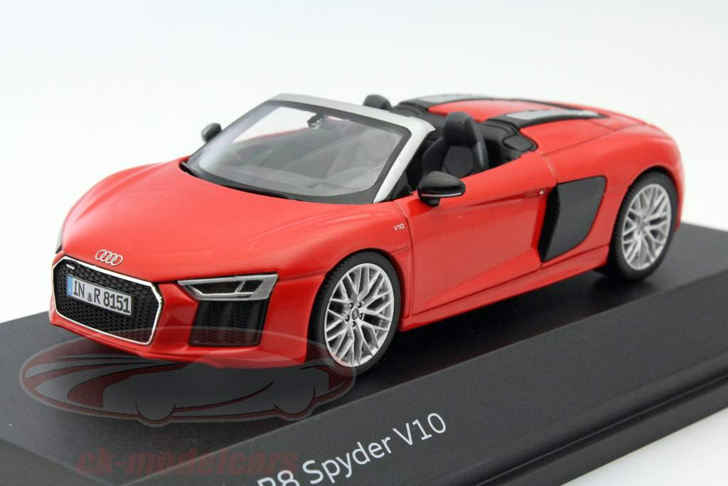 ck modelcars 5011618532 audi r8 spyder v10 rouge 1 43 herpa ean 2160000044775. Black Bedroom Furniture Sets. Home Design Ideas
