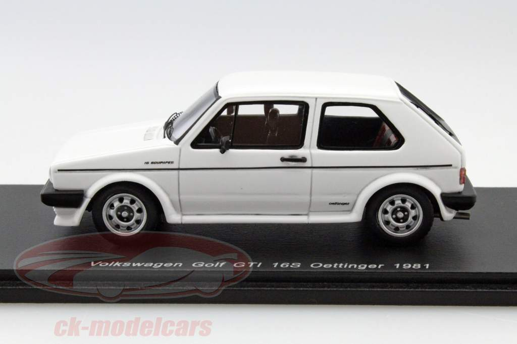 ck modelcars s0838 volkswagen vw golf gti 16s oettinger year 1981 white 1 43 spark ean. Black Bedroom Furniture Sets. Home Design Ideas